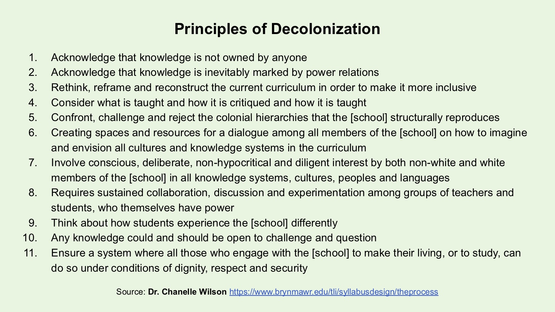 Principles of Decolonization Image